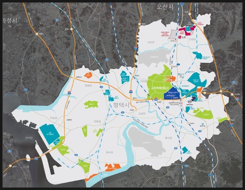 평택 고덕국제신도시 개발 지도